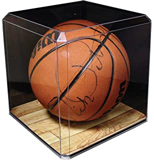 Display Cases Steiner Lovely Utah Jazz Glass Basketball Display Case Logo On Court Background Autographs-original