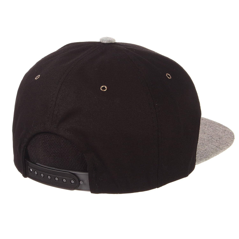 Black//Grey Adjustable Zephyr Mens Boss Snapback Hat