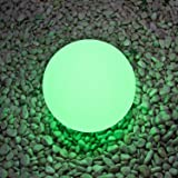 LED Ball Lights-LOFTEK Rechargeable Lamp Cordless Night Lights with Remote Control, RGB Color Changing, 8-inch Ball