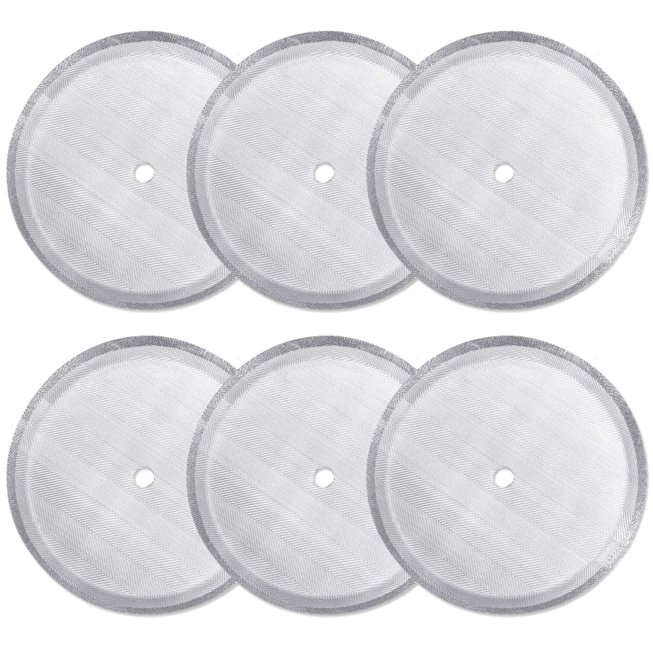6 Pack French Press Replacement Filter Screen,Reusable Stainless Steel Mesh Filters for Universal 1000 ml / 34 oz / 8 cup French Press Coffee Makers
