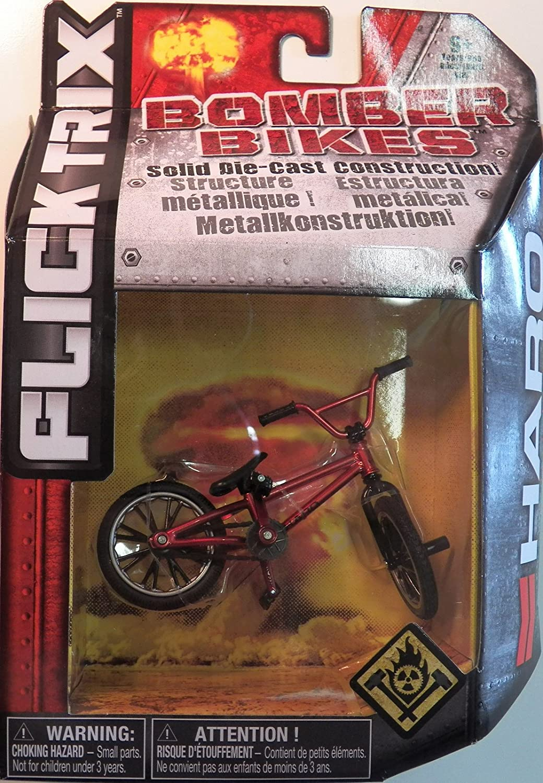 Flick Trix Solid Die-cast Bomber Bikes - Haro Bikes (Red frame) Spin Master