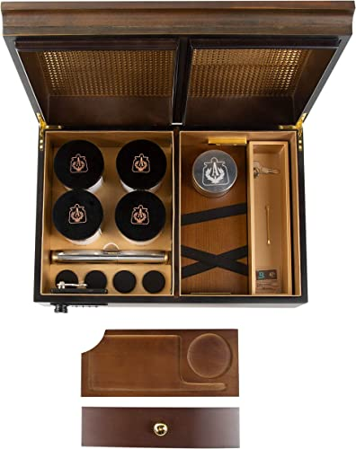 Apothecarry Case - Handmade with Built in Lock - Luxury Herb Storage Case for The Connoisseur- Full KIT Brown