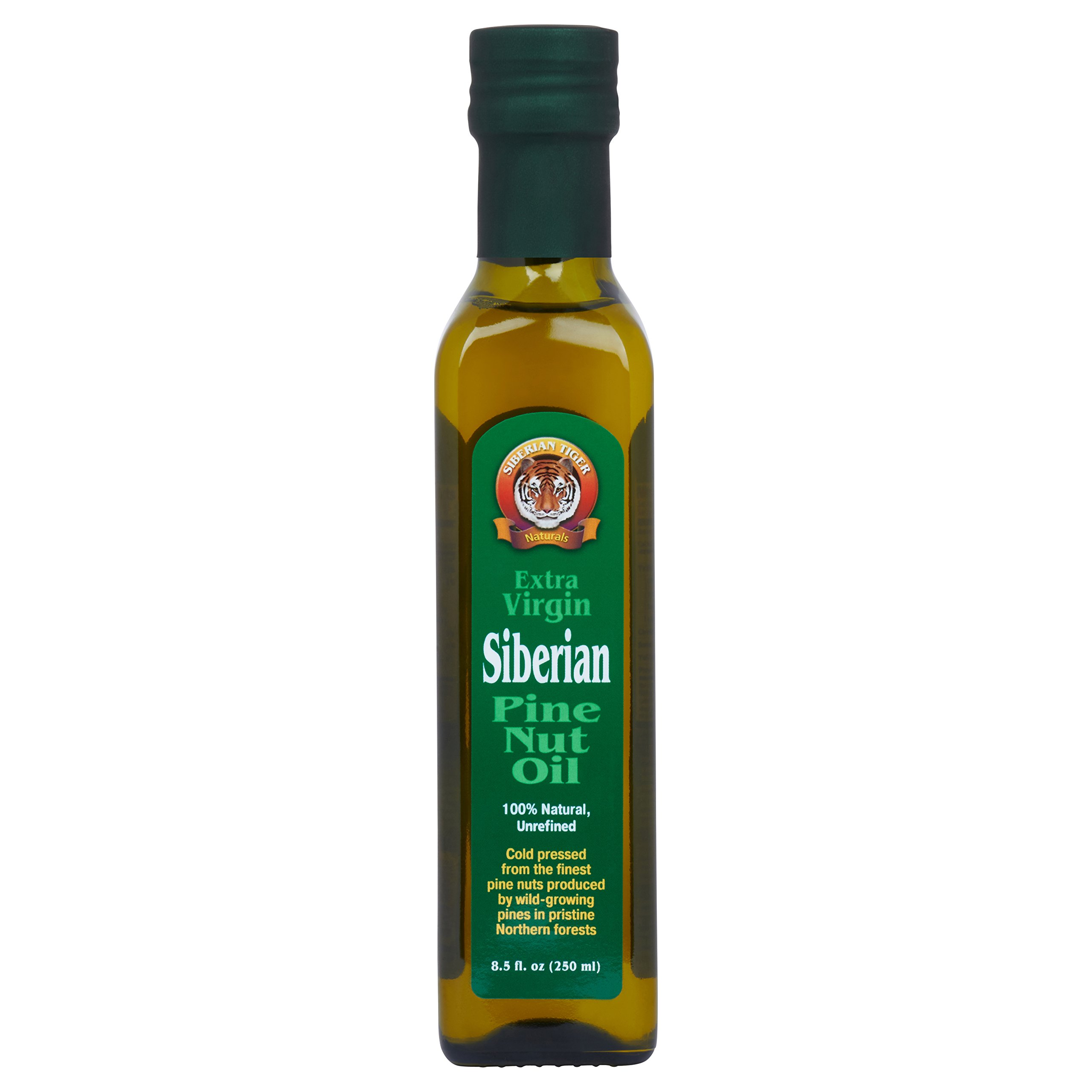 Extra Virgin Siberian Pine Nut Oil, 8.5 oz. Bottle - Premium Quality, Unrefined, 100% Natural - Benefits Overall Health & Aids Gastritis, Ulcers, Digestive Issues by Siberian Tiger Naturals
