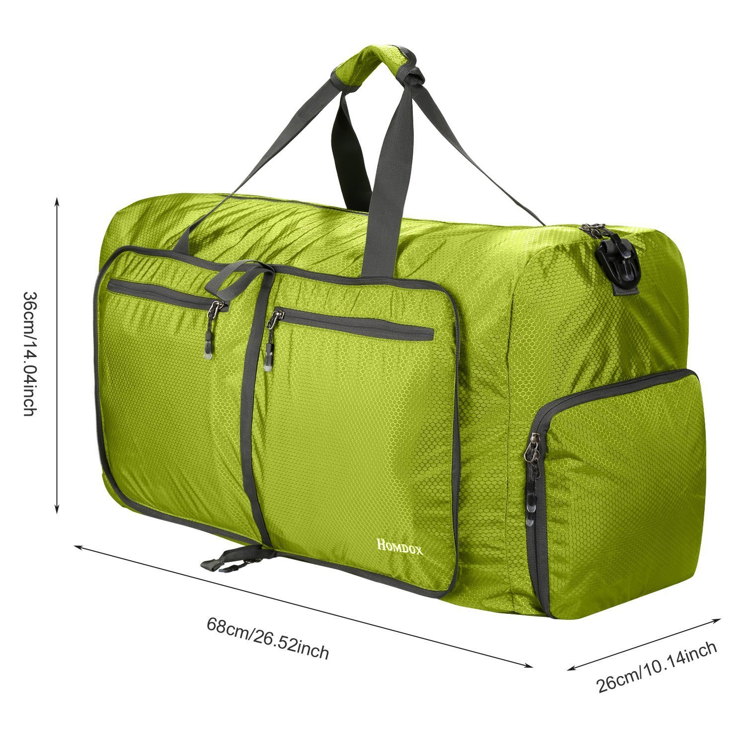 70d833dd42e2 80L Foldable Duffle Bag, Lightweight Travel Bag for Shopping Gym Sport  Camping, Extra Large Strong Storage Bag - 27