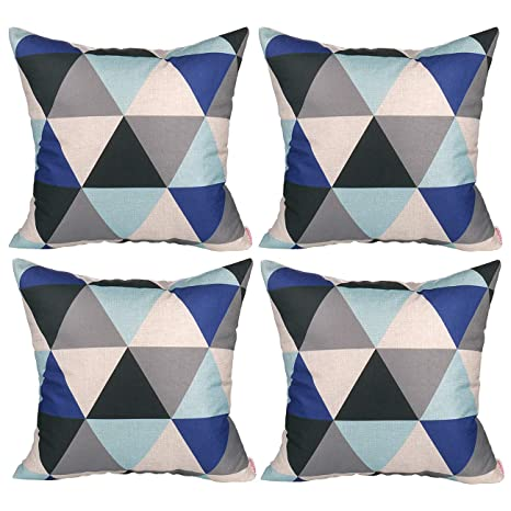 Amazon.com: Luxbon Conjunto de 4pcs geométrica Lino y ...