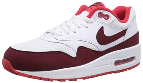 new concept a26c5 a149e Nike AIR MAX 1 Essential Women Sneakers White Team Red 599820-110 (SIZE