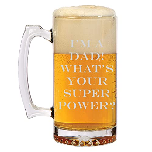 Amazon Im A DAD Whats Your Super Power Beer Mug Fathers Day