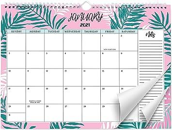 Amazon Com Sweetzer Orange 2021 Calendar 18 Month Office Or Family Wall Calendar 2020 Dec 2021 Leafy Design Monthly Planner Daily Wall Calendars For Office Organization 11 5 X 15 Inch Hanging Wall