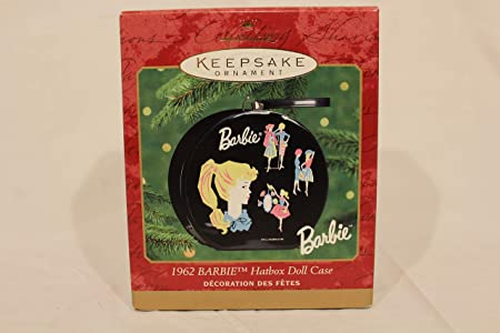 1962 Barbie Hatbox Doll Case  Hallmark Keepsake Ornament  New in Box