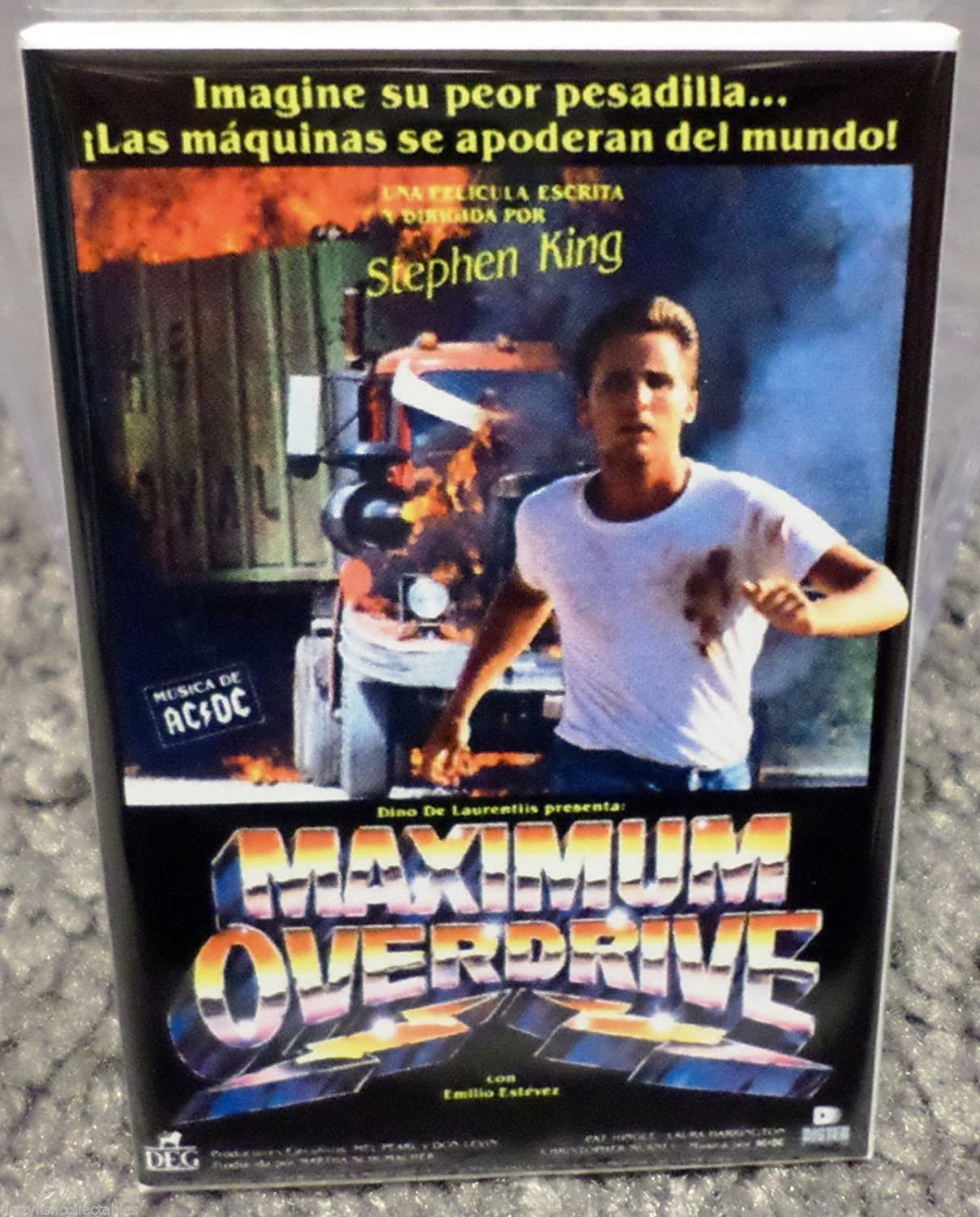 Maximum Overdrive Spanish Movie Poster 2 x 3 Refrigerator Locker MAGNET King