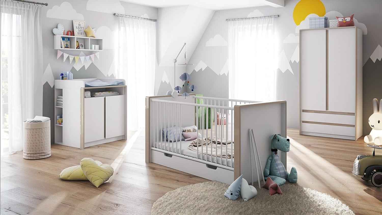 Baby Nursery Room Furniture Set Nandini Set 1 In White Matt With