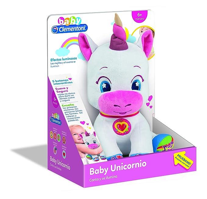 Clementoni-Baby Unicornio, Multicolor, Sin Talla