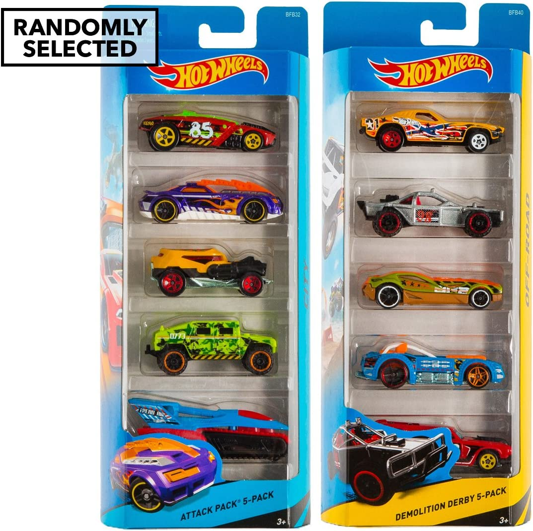 Hot Wheels 5 Car Pack Regalo - Racers híbrido [Importado de ...