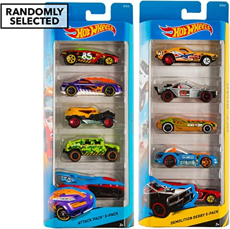 Hot Wheels 5 Car Pack Regalo - Racers híbrido [Importado de ...