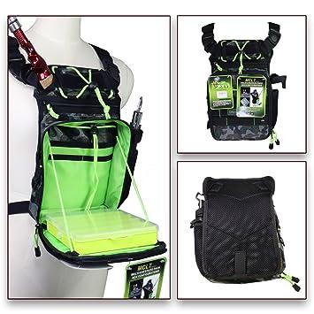 QualyQualy - Riñonera de pesca, con bolsa para caña de pescar y bolsa de almacenamiento para aparejos de pesca, diseño de camuflaje: Amazon.es: Deportes y ...