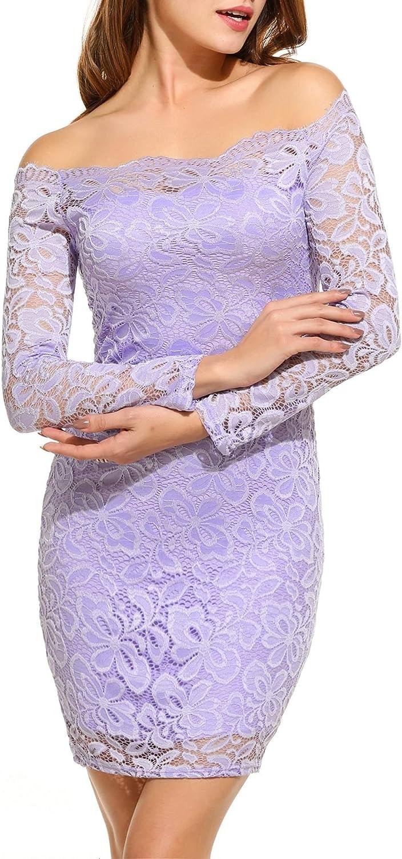 TALLA EU 52-54(talla productor XXL). Acevog Vestido Cocktail para mujer Rosa Púrpura EU 52-54(talla productor XXL)