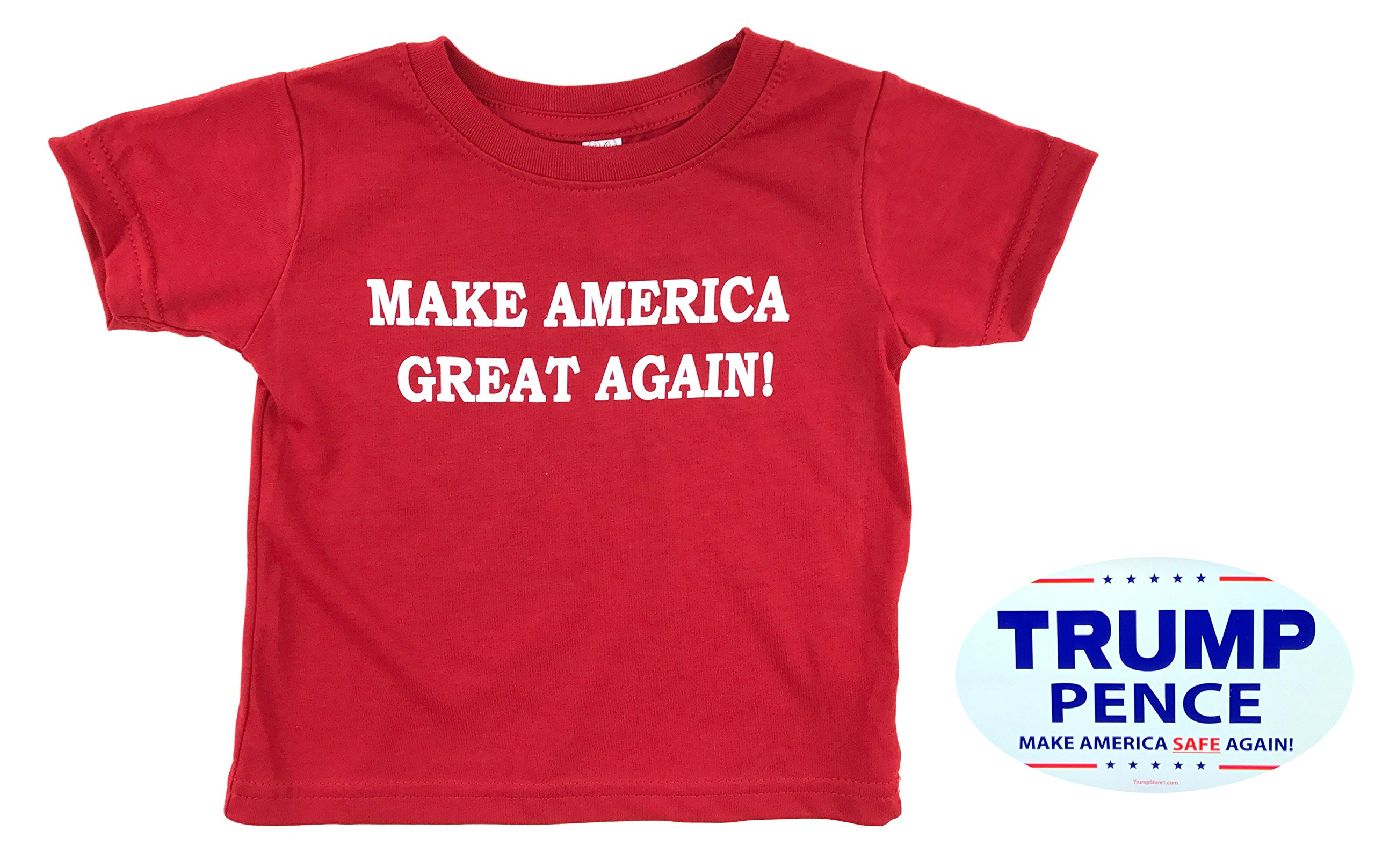 how-z-it Donald Trump Make America Great Again Baby Toddler T Shirt (4, Red)