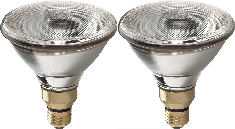 GE Lighting 68956 Energy-Efficient Halogen 75-watt 1500-Lumen PAR38 Spot Light Bulb with Medium Base, 2-Pack