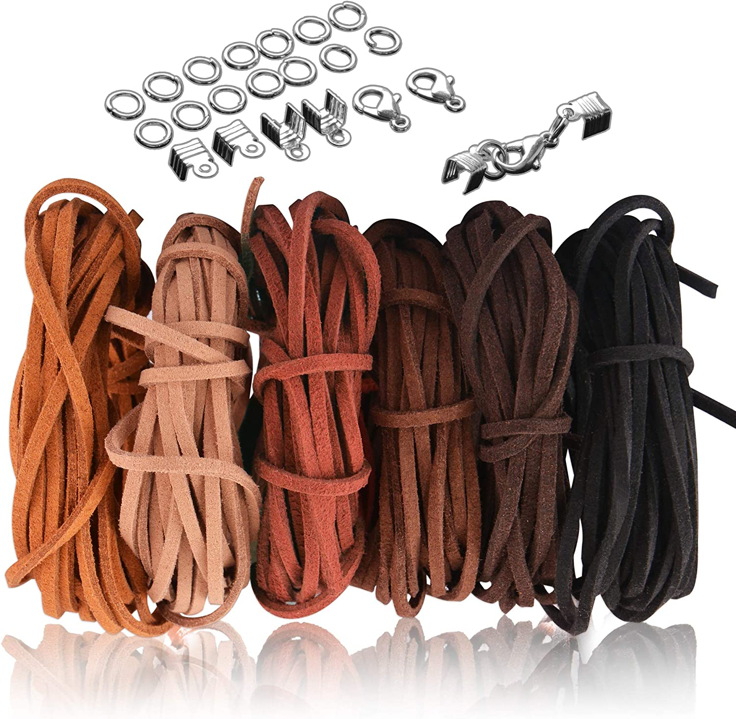 Making DIY Necklace 3mm Cord Suede Jewelry Thread Leather String