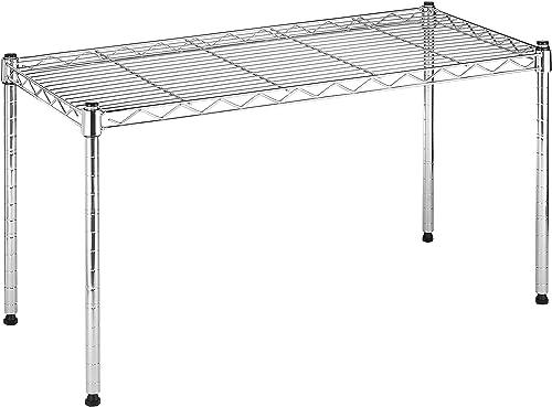 Whitmor Supreme Wide Stacking Shelf – Heavy Duty – Adjustable – Chrome