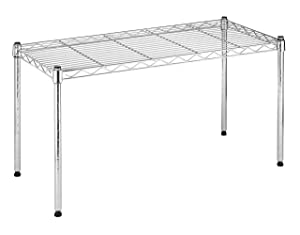 Whitmor Supreme Wide Stacking Shelf - Heavy Duty - Adjustable - Chrome