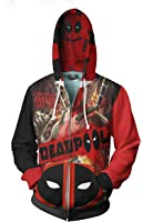 Deadpool American Superhero Zipper Hoodie Custom Full Print Sublimation