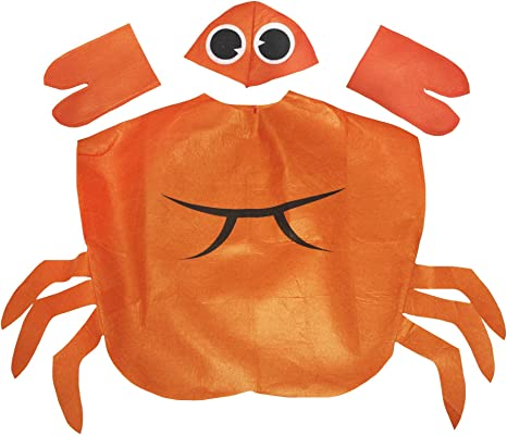 Petitebelle Los niños traje de cangrejo 3 años + Un tamaño naranja ...
