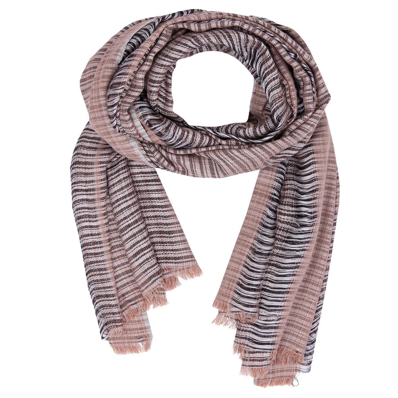 Kashfab Made im Kashmir Herbst Winter 2018-19 Sammlung von Wolle Seide Prüfen Streifen Unisex Damen Herren Pashmina Schal Schal KF00000055