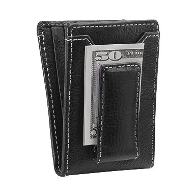 55ce38ba96fd5 HOJ Co. IVAR ID BIFOLD Money Clip Wallet-Full Grain Leather-Magnetic ...