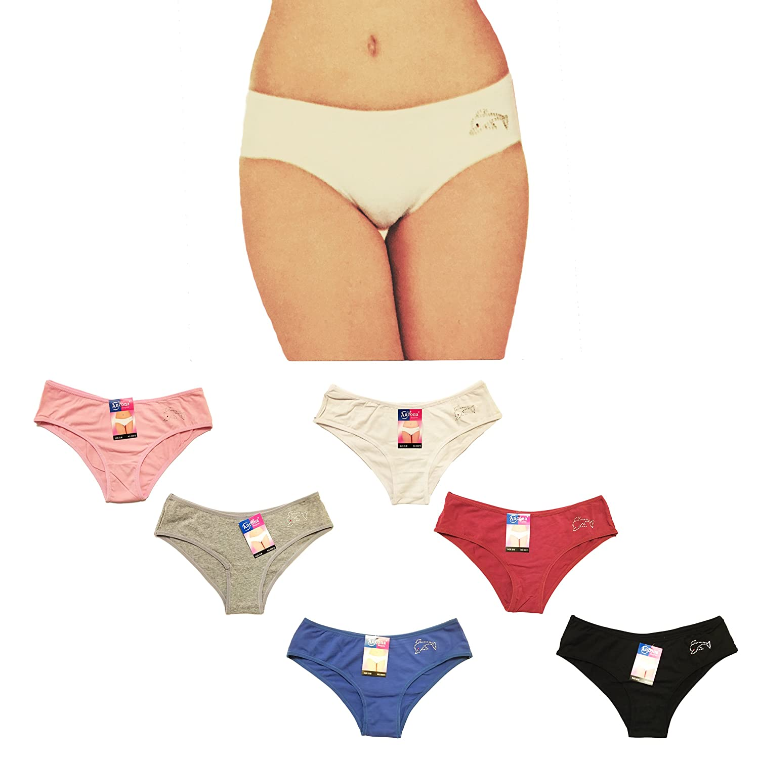 fb07dc62c You New Ladies Underwear Knickers Cotton Rich Plain Dolphin Beaded Dolphin Briefs  Panties  Amazon.co.uk  Clothing