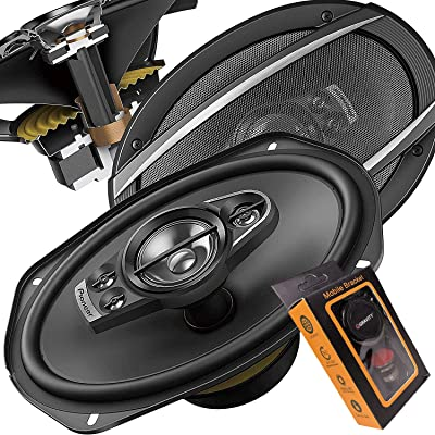 Pioneer 6 Inch X 9 Inch 6x9 700W 5-Way A-Series Coaxial Car Speakers System with Gravity Mobile Bracket Holder: Electronics
