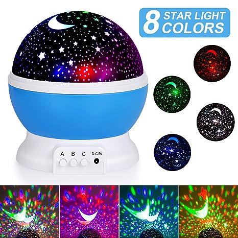 Proyector de Estrellas, adoric Baby nachtlicht LED Luz nocturna ...