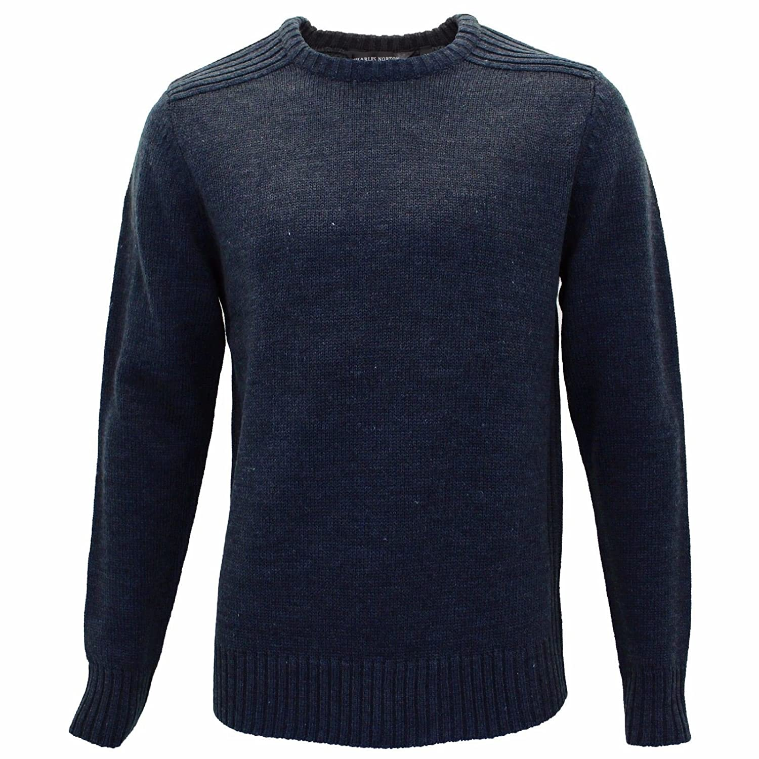 886a947ca1aab0 Charles Norton Mens Plain Crew Neck Casual Sweatshirt Pullover Sweater  Jumper  Amazon.co.uk  Clothing