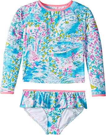bd6cf7b366d33 Lilly Pulitzer Kids Baby Girl's UPF 50+ Cora Rashguard Swim (Toddler/Little  Kids