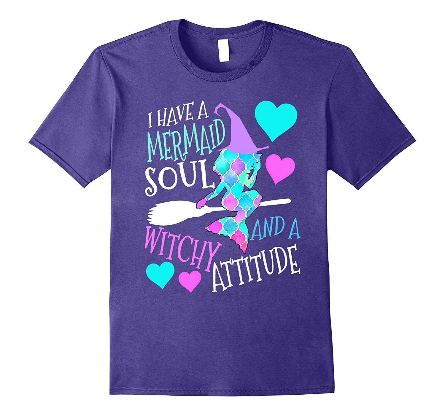 I have a mermaid soul and a witchy attitude shirt-Art