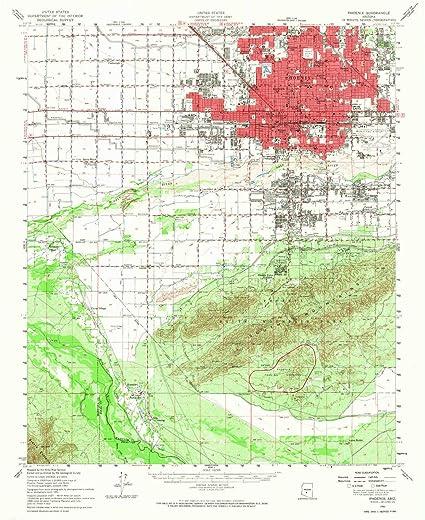 Map Of Phoenix Arizona.Amazon Com Yellowmaps Phoenix Az Topo Map 1 62500 Scale 15 X 15