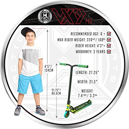 Amazon.com: VX9 PRO Scooter - Suits Boys & Girls Ages 6+ ...