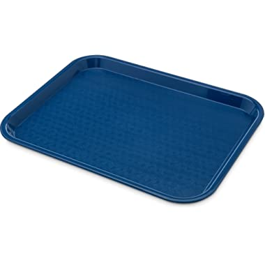 Carlisle CT1014-8114 Café Standard Cafeteria / Fast Food Tray, 10  x 14 , Blue (Pack of 6)