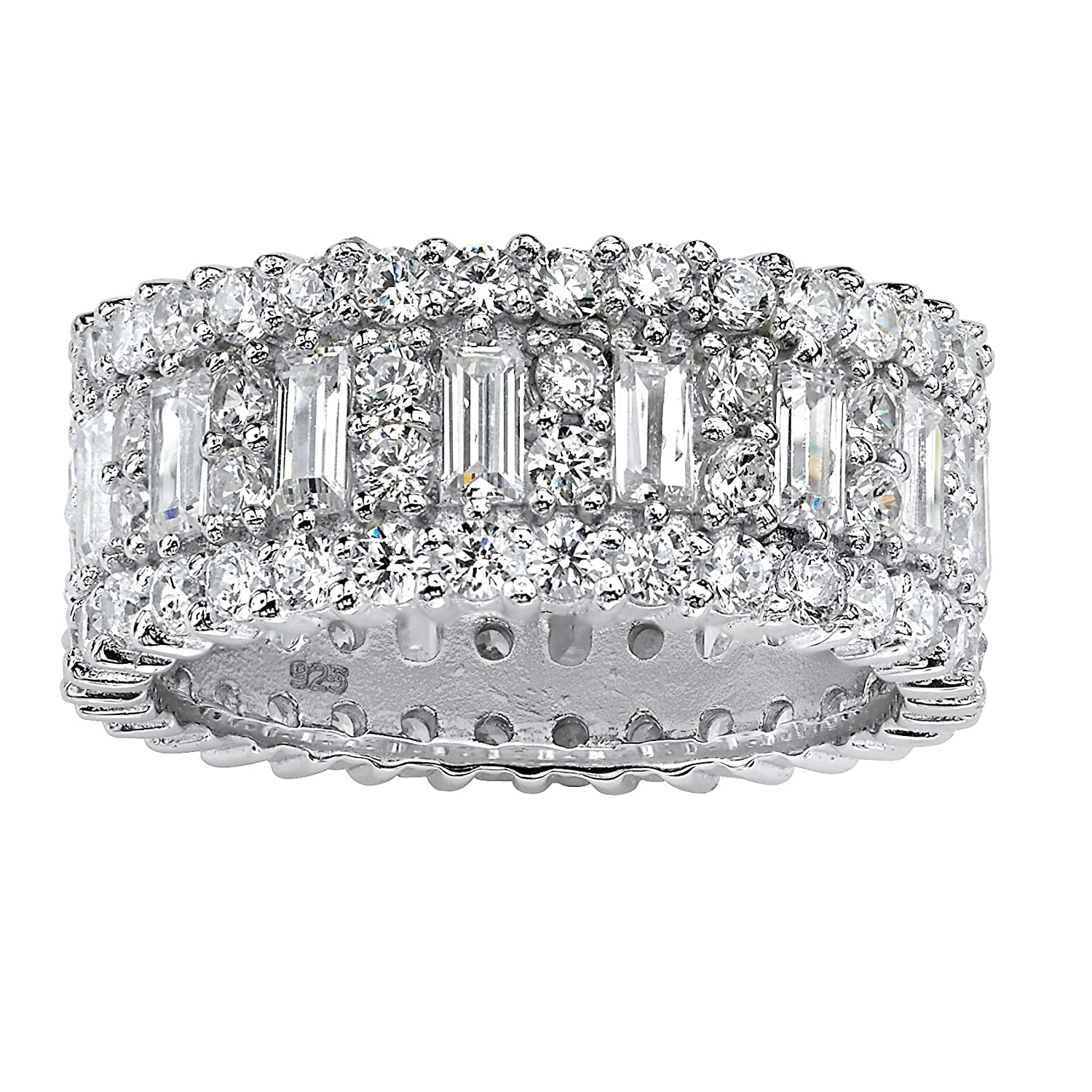zirconia cluster band eternity cubic wide pin paved bands tina ring