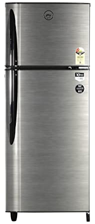 Godrej 260 L 2 Star Frost Free Double Door Refrigerator(RT Eon 260 P2.4, Silver Strokes)