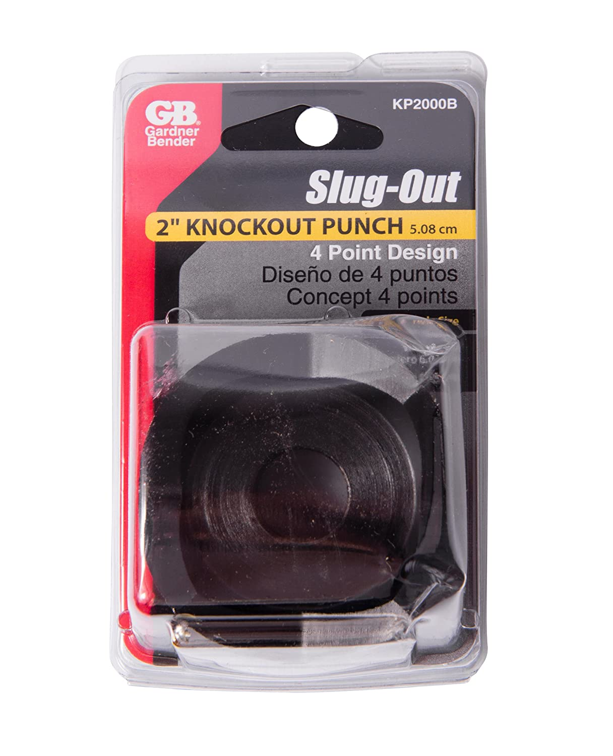 1/¼ Inch Conduit Pipe Size Cutting Diameter Knockout Gardner Bender KD1250B Slug-Out Individual Contractor Die Knockout Punches 10 AWG Mild Steel /& 12 AWG Stainless Steel