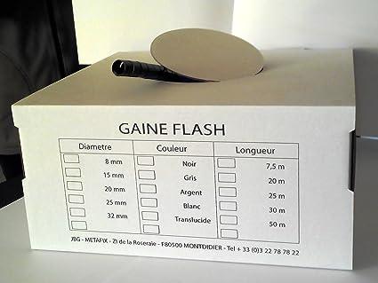 Couleur: Noir Gaine Range C/âbles Gaine Flash Gaine Flash Diam/ètre 15 mm Longueur: 1,5 m