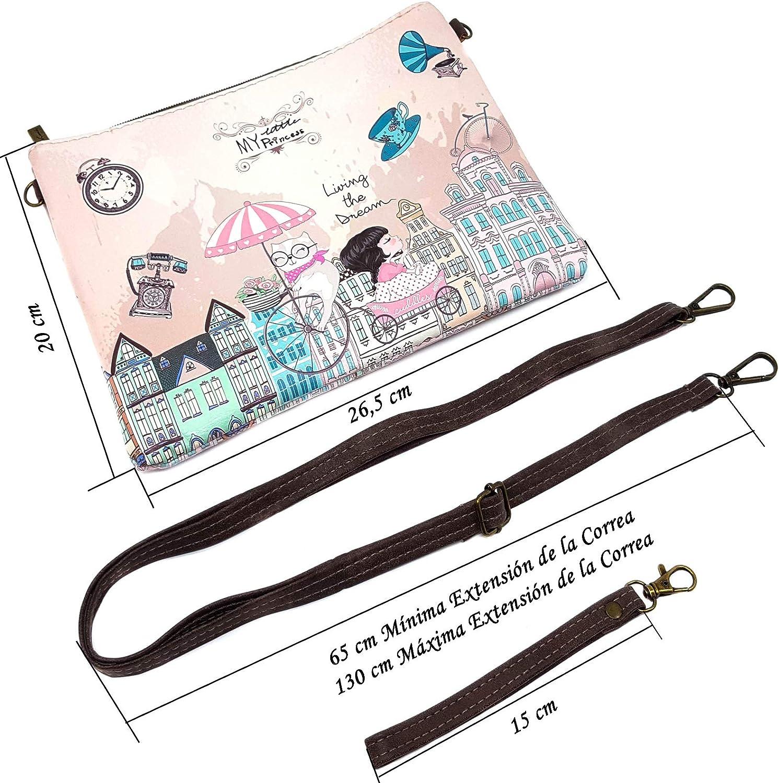 Sweet & Candy Bags Bolso Mujer Bolso Pequeño Bandolera Bolso de Hombro Chica con Correa Larga para el Hombro y Correa para la Muñeca Regalo un Espejo de Bolsillo (Naranja Roma): Amazon.es: