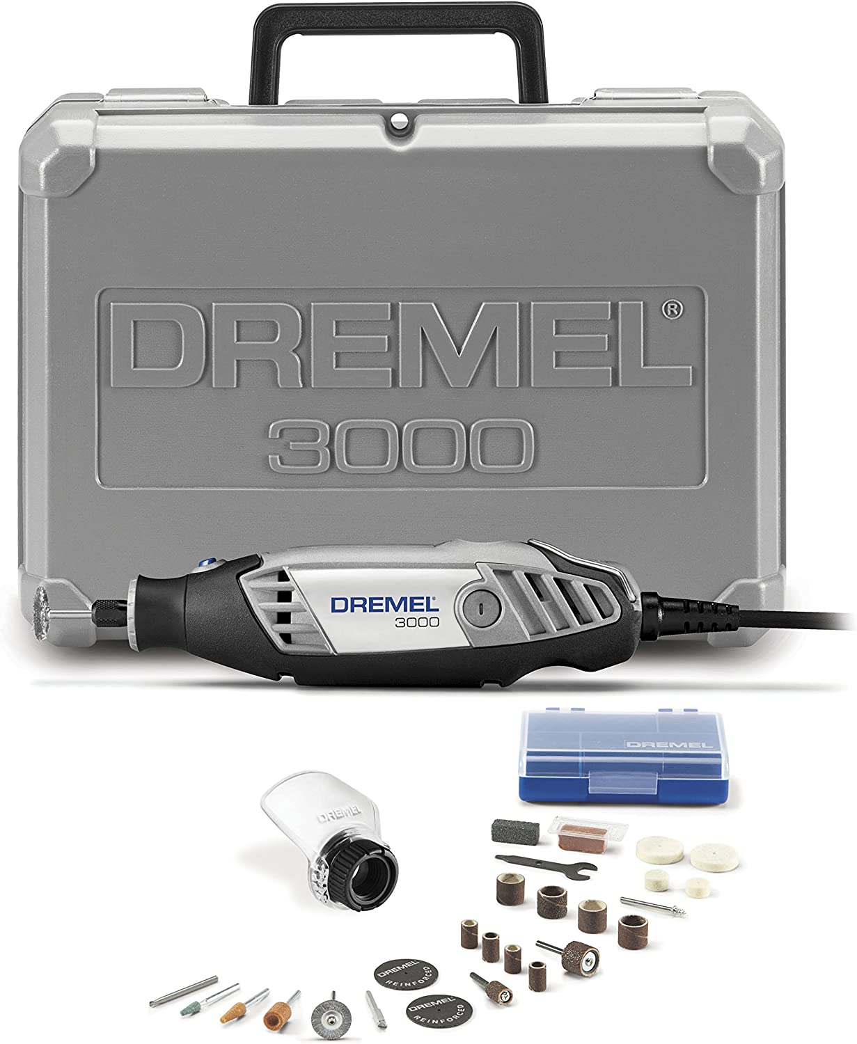 2. Dremel 3000-1/25 Variable Speed Rotary Tool Kit