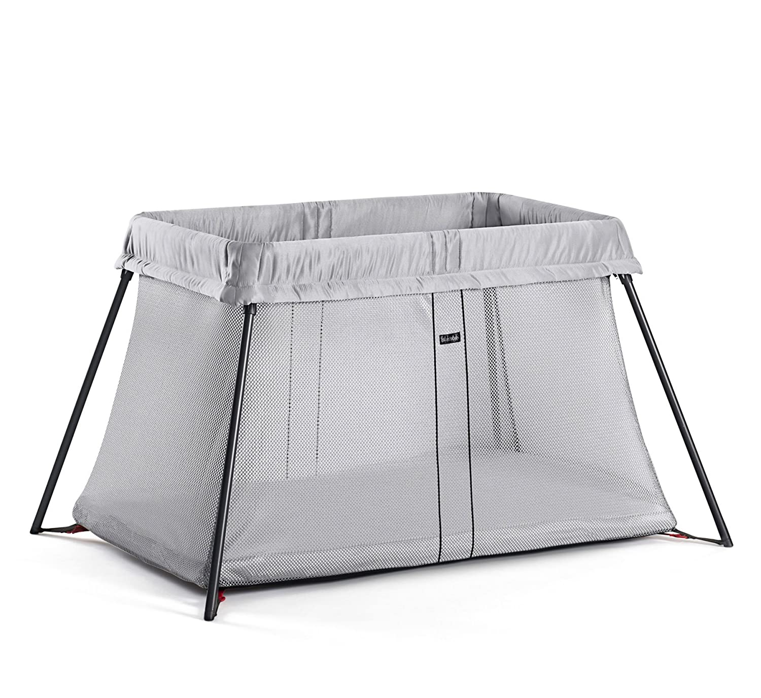 BABYBJÖRN Travel Cot with Fitted Sheet, Black Baby Bjorn 640901