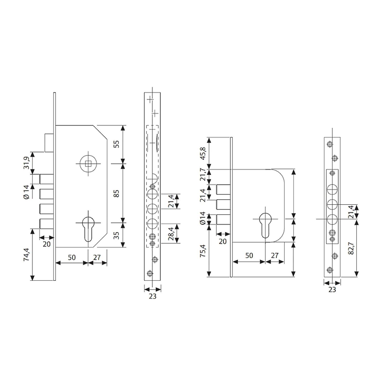 Tesa Assa Abloy R200B566L Cerradura De Seguridad Monopunto Con Cilindro T60, Acero Inoxidable: Amazon.es: Bricolaje y herramientas