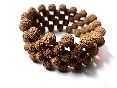 0021cfd91f34a numeroastro Designer Brown Wooden Stretchable 5 Mukhi Rudraksha Beads Good  Luck Bracelet for Men and Women