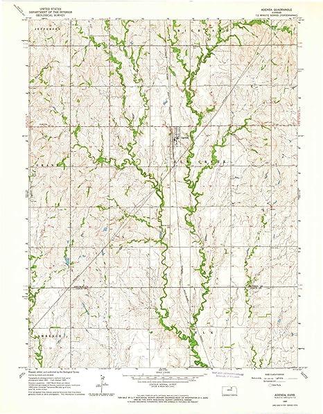 Amazon.com: YellowMaps Agenda KS topo map, 1:24000 Scale ...