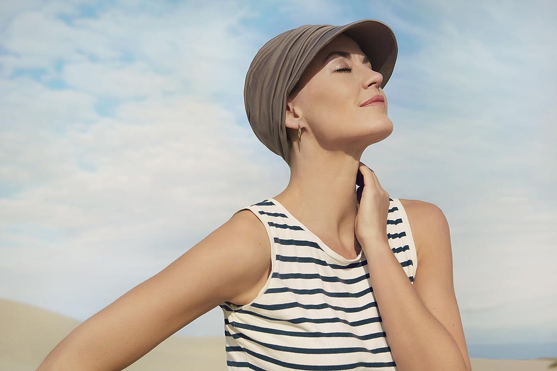 Gorra oncológica ultra transpirante Bella con visera y Technology 37.5® color marrón arenoso para mujeres en tratamiento con quimioterapia: Amazon.es: ...