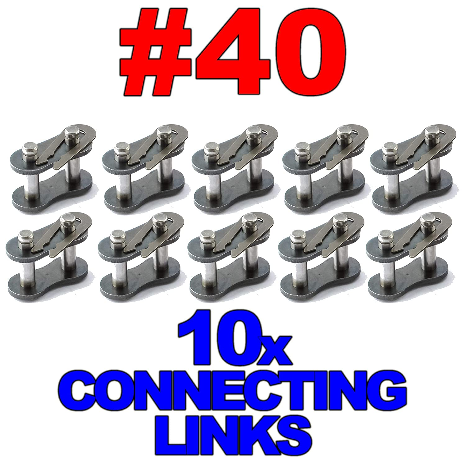 #40 Roller Chain Connecting Links 10 Pack
